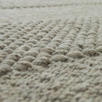 Wool Rug Plain Colours Scandinavian Cream – Bild 3
