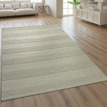 Wool Rug Plain Colours Scandinavian Cream