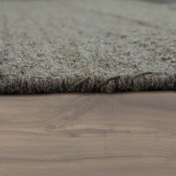 Wool Rug Plain Colours Scandinavian Taupe – Bild 2