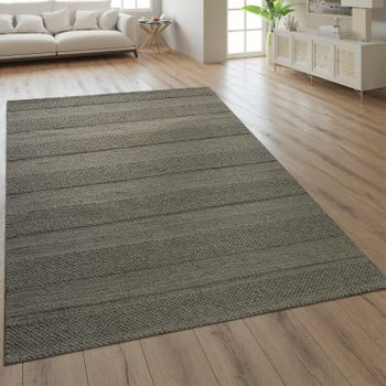 Wool Rug Plain Colours Scandinavian Taupe – Bild 1