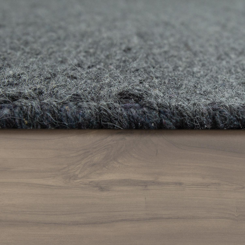 wollteppich unifarben skandinavisch anthrazit design teppiche. Black Bedroom Furniture Sets. Home Design Ideas