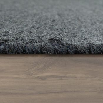 Wool Rug Plain Colours Scandinavian Anthracite – Bild 2