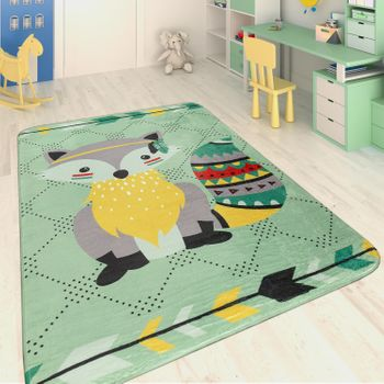 Children's Rug Indian Raccoon Multicolour – Bild 1