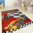 Children's Rug Racing Cars Red 001