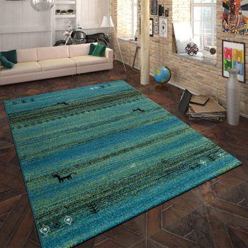 Heatset Teppich Indianisches Design Türkis – Bild 1