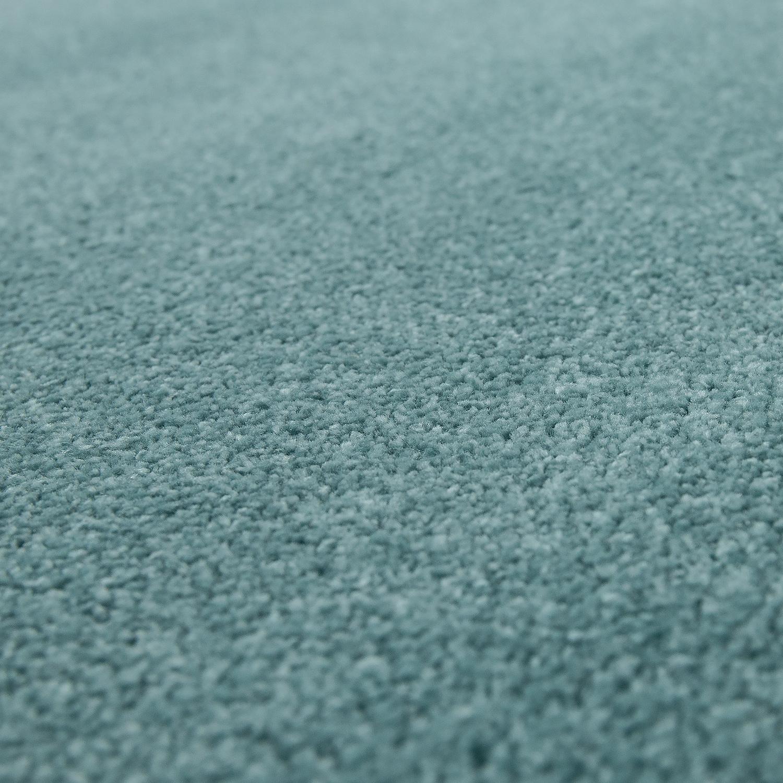 kurzflor teppich hochwertig einfarbig blau hochflor teppiche. Black Bedroom Furniture Sets. Home Design Ideas