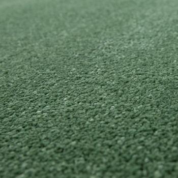 Kurzflor Teppich Hochwertig Einfarbig Grün – Bild 3
