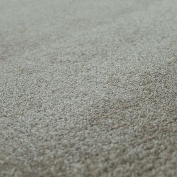 Kurzflor Teppich Hochwertig Einfarbig Braun – Bild 3