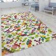 Handwebteppich Karo Design Multicolor 001