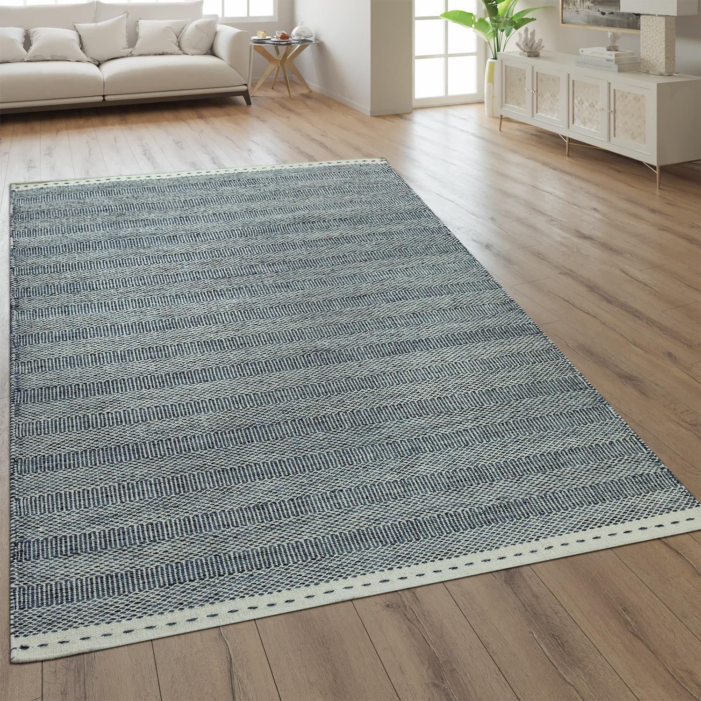 wollteppich streifen optik einfarbig grau teppiche. Black Bedroom Furniture Sets. Home Design Ideas