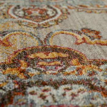 Vintage Rug Short Pile Ornaments Terracotta – Bild 3