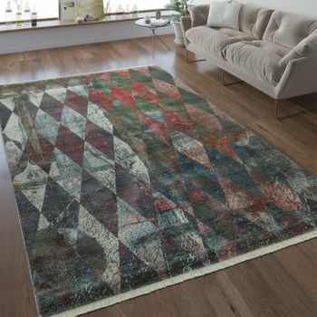 Designer Rug Diamond Pattern Multicolour