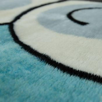 Hand Tufted Children's Rug Happy Bear Blue – Bild 3