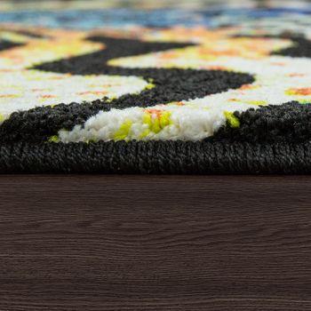 Designer Teppich Animal Zebra Design Multicolor – Bild 2
