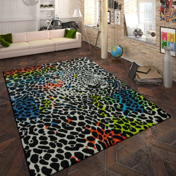 Designer Teppich Animal Leopard Design Multicolor – Bild 1