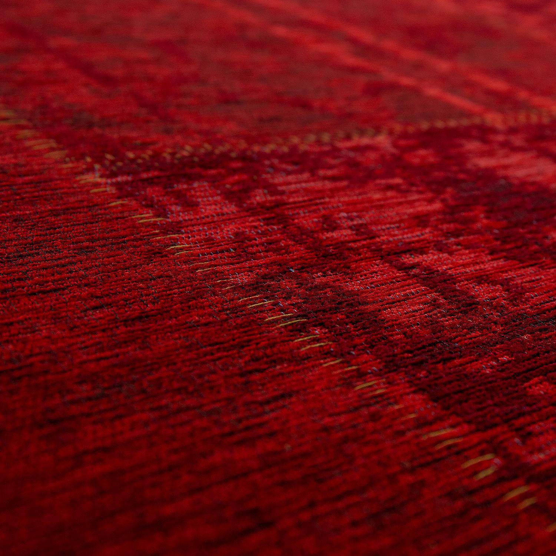 teppich flachgewebe patchwork rot teppiche sisal optik. Black Bedroom Furniture Sets. Home Design Ideas