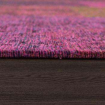 Tapijt platweefsel patchwork lila – Bild 2