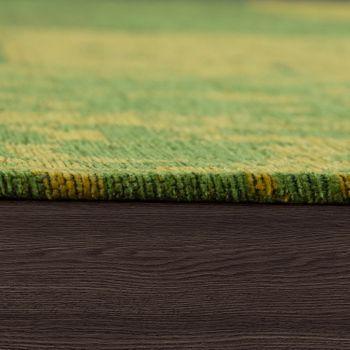 Tappeto tessuto liscio patchwork, verde – Bild 2