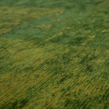 Rug Flat Woven Patchwork Green – Bild 3
