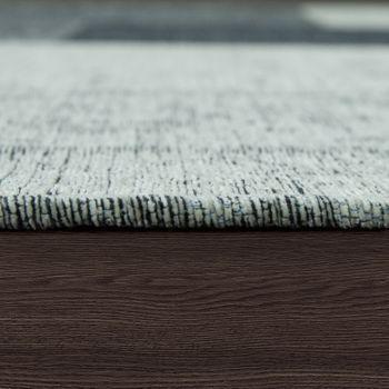 Tapijt platweefsel patchwork zilver grijs – Bild 2