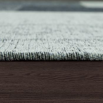 Teppich Flachgewebe Patchwork Silber Grau – Bild 2