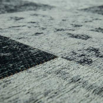 Teppich Flachgewebe Patchwork Silber Grau – Bild 3
