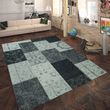 Rug Flat Woven Patchwork Silver Grey 001