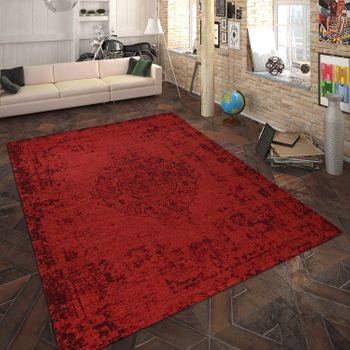 Rug Flat Woven Ornaments Red – Bild 1