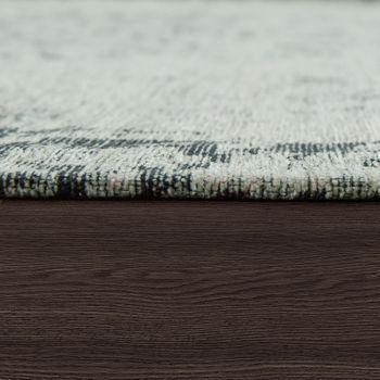 Tappeto tessuto liscio con ornamenti, grigio argento – Bild 2