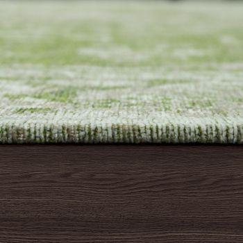 Rug Flat Woven Vintage Look Green – Bild 2