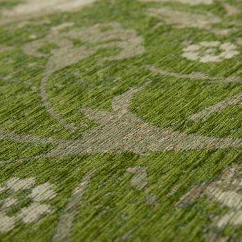 Teppich Flachgewebe Vintage Optik Grün – Bild 3