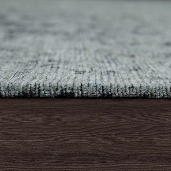Tappeto tessuto liscio effetto vintage, grigio argento – Bild 2
