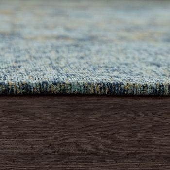 Tappeto tessuto liscio effetto vintage, blu – Bild 2