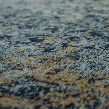Tappeto tessuto liscio effetto vintage, blu – Bild 3