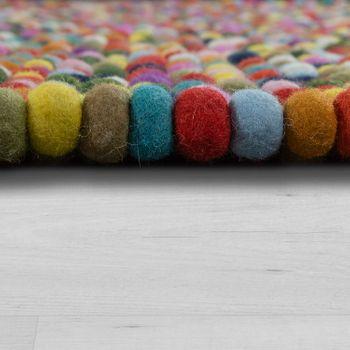 Wollfilzteppich 3D Mosaikoptik Multicolor – Bild 2