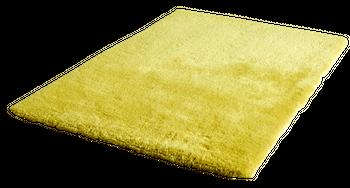 Handgetuftet Hochflorteppich Einfarbig Gelb – Bild 1