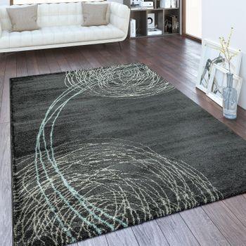 Designer Teppich Abstraktes Design Anthrazit