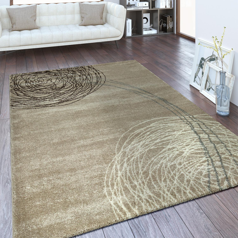Designer Teppich Abstraktes Design Beige