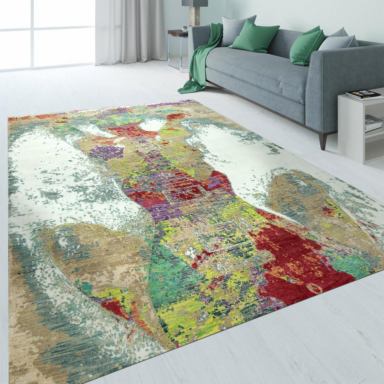 vintage teppich abstraktes design multicolor teppiche vintage teppiche. Black Bedroom Furniture Sets. Home Design Ideas