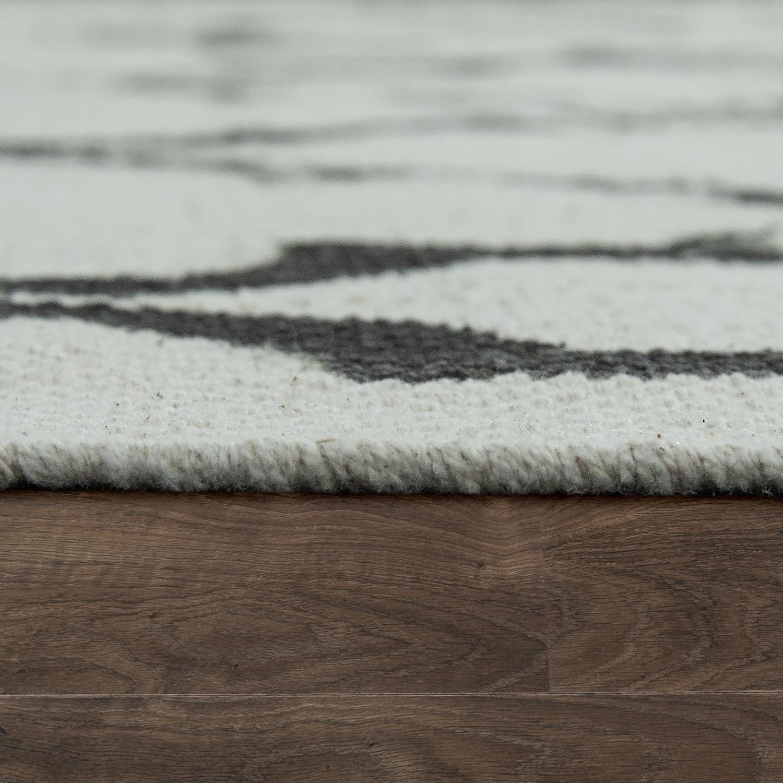 flachgewebe teppich marokkanisches muster anthrazit design teppiche. Black Bedroom Furniture Sets. Home Design Ideas