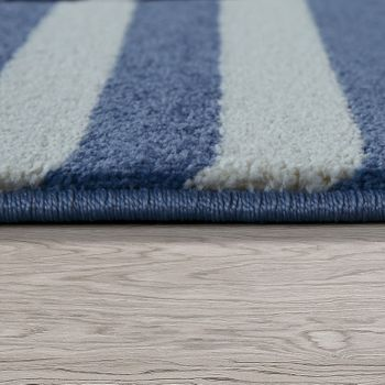 Children's Rug Nautical Design Blue White – Bild 2