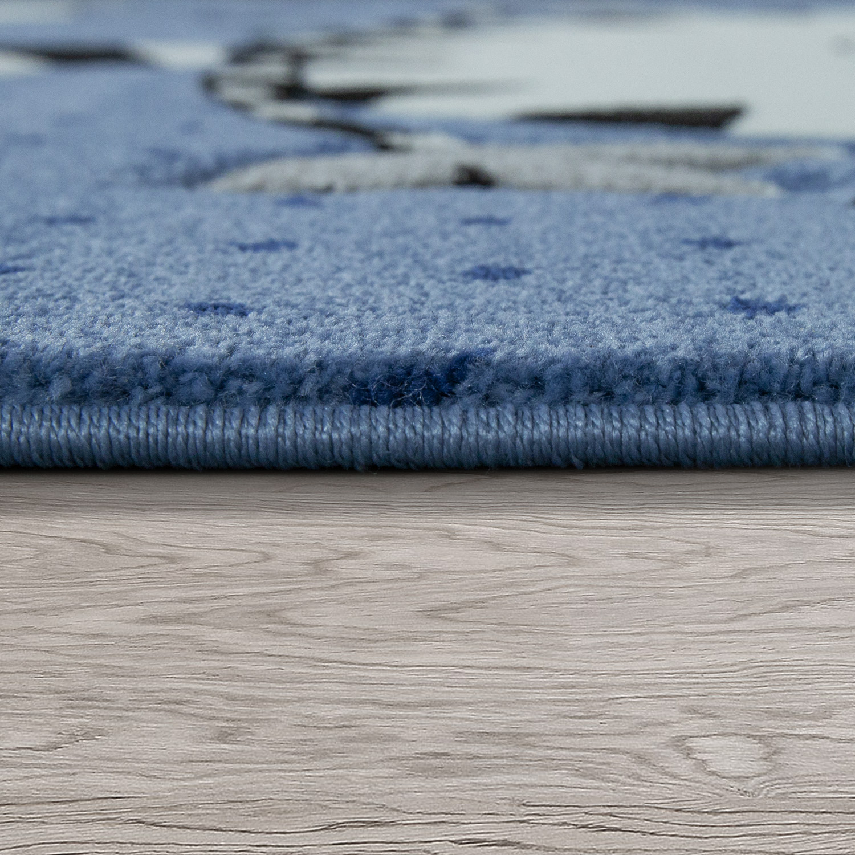 tapis pour enfant chat fantaisie gris bleu tapis enfants. Black Bedroom Furniture Sets. Home Design Ideas