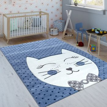 Children's Rug Cheshire Cat Indigo Blue – Bild 1