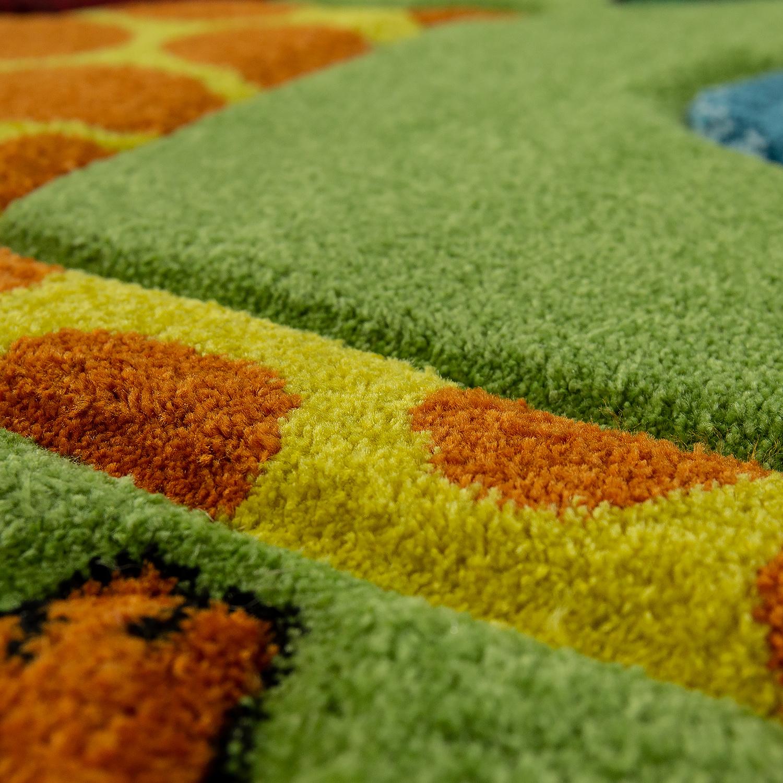 Kinderteppich dschungel tiere gr n kinder teppiche for Kinderzimmer teppich tiere
