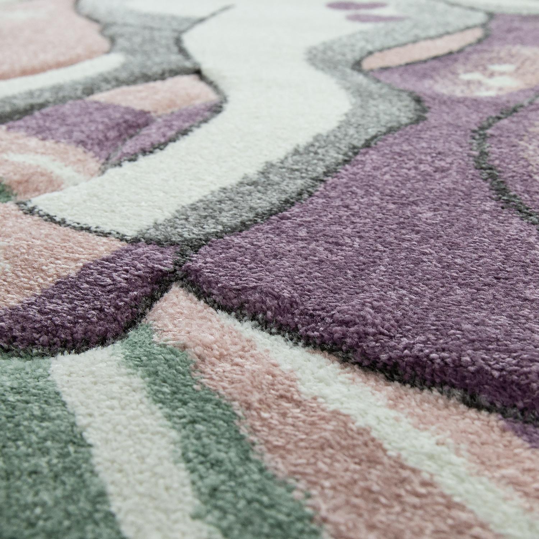 tapis pour enfant arc en ciel licorne pastel rose tapis enfants. Black Bedroom Furniture Sets. Home Design Ideas