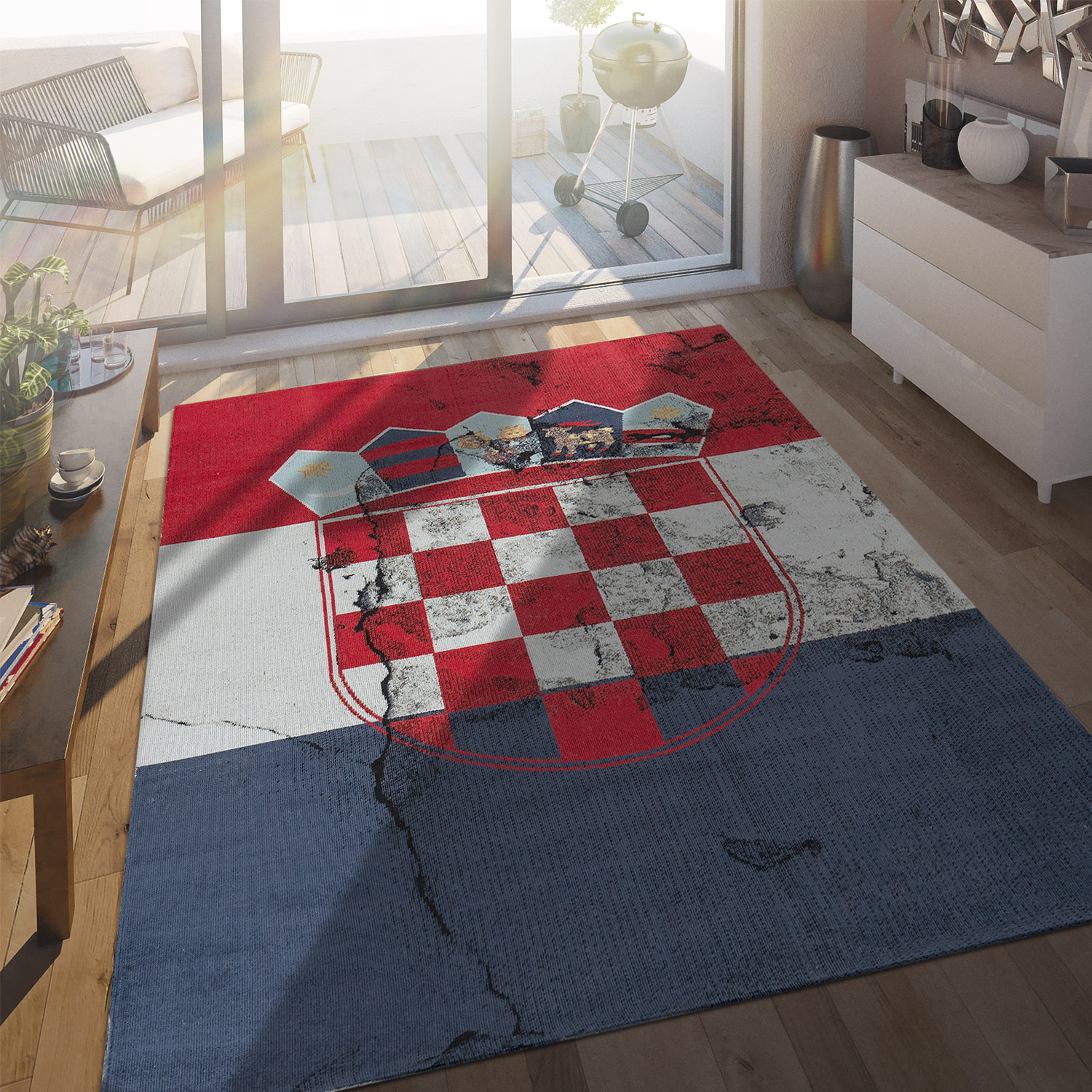 Indoor & Outdoor Rug Croatian Flag