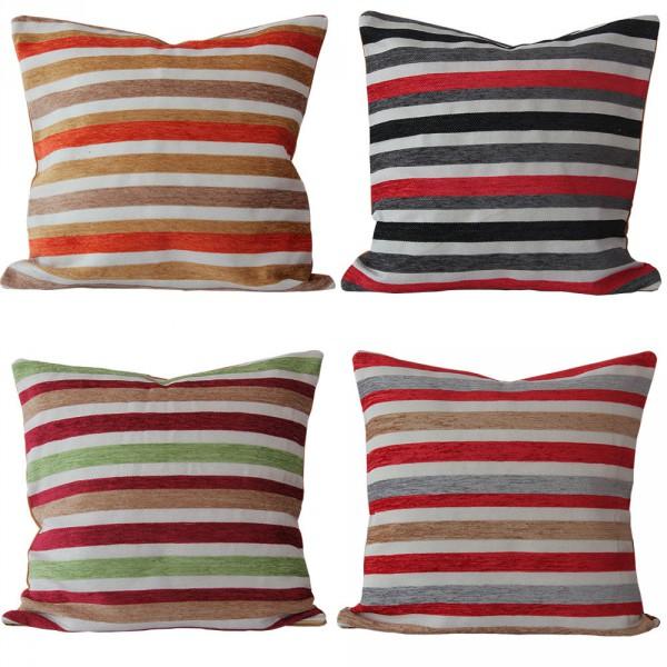 kissenh lle 40 x 40 cm bunt gestreift orange grau rot. Black Bedroom Furniture Sets. Home Design Ideas