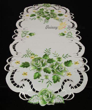 Grün Rosen Stickerei - Serie  – Bild 10