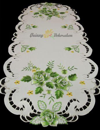 Grün Rosen Stickerei - Serie  – Bild 11