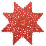 Festlich 85 cm Stern Mitteldecke Tischdecke Rot Gold Gestickt Winter Weihnachten 001